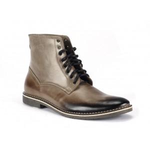 Kotníkové pánske kožené topánky v béžovej farbe COMOMO E SANO