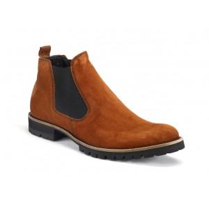 Pánske kožené kotníkové topánky COMODO E SANO