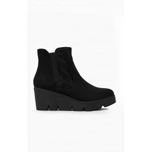 Čierne zimné topánky na platforme