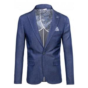 Elegantné pánske sako v modrej farbe