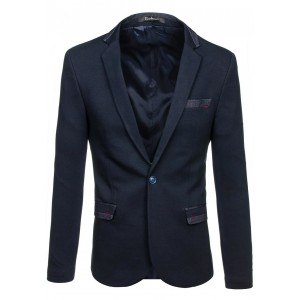 Tmavomodré elegantné pánske sako