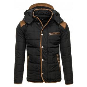 Krátka pánska zimná bunda čierna