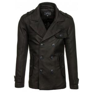 Zimný pánsky kabát čierny