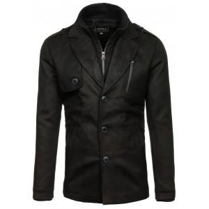 Dlhší pánsky kabát na zimu
