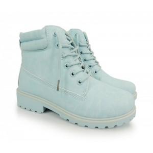 Modré dámske worker topánky