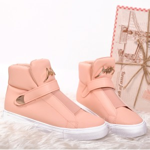 Ružové kotníkové topánky pre dámy