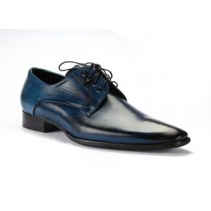 Pánske kožené topánky modrej farby COMODO E SANO