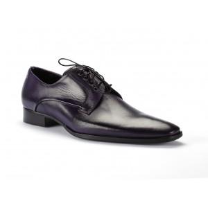 Fialové kožené topánky pre pánov COMODO E SANO