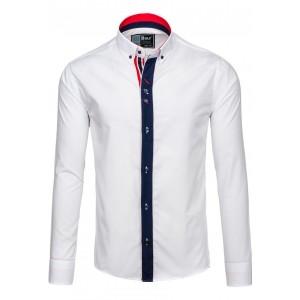 Elegantná pánska slim fit košeľa v bielej farbe