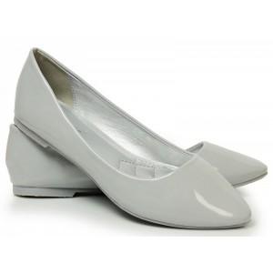 Trendové balerínky sivej farby pre dámy