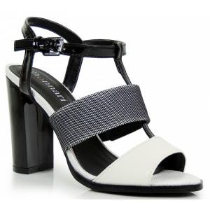 Elegantné dámske sandále čierno bielej farby