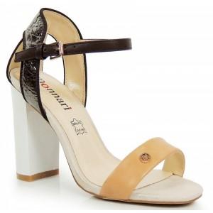 Elegantné dámske sandále hnedej farby