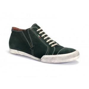 Pánska športová kožená obuv zelenej farby COMODO E SANO