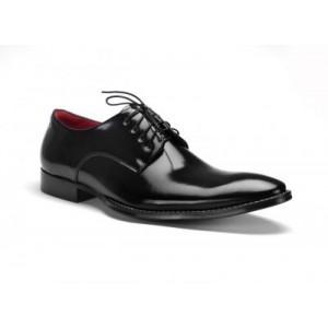 Elegantné pánske kožené topánky COMODO E SANO čiernej farby