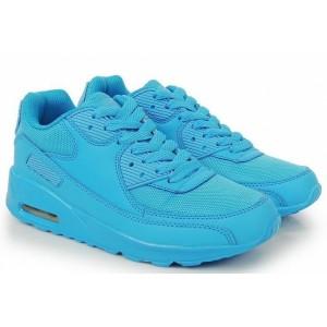 Dámske športové topánky v modrej farbe na šnúrky