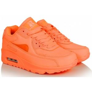Oranžová dámska športová obuv s vyššou podrážkou