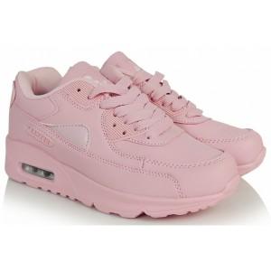 Ružové dámske športové topánky na šnurovanie