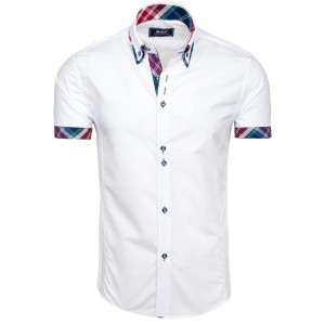 Elegantné biele košele s krátkym rukávom pre pánov
