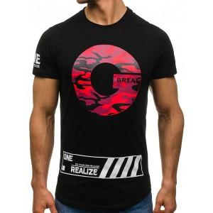 Čierne tričko pre mužov s army motívom