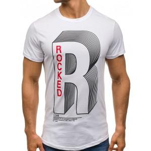 Športové tričko s krátkym rukávom bielej farby pre pánov