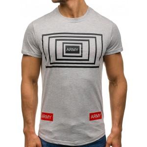 Sivé pánske tričko s nápisom ARMY