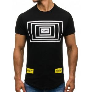 Čierne pánske tričká s potlačou