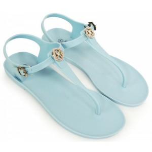 Svetlo modré dámske sandále na leto