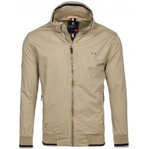 Béžová pánska prechodná bunda na zips