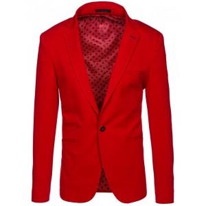Červené pánske sako so zapínaním na gombík