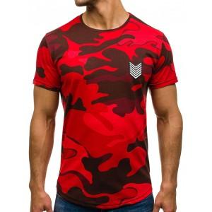 Červené pánske army tričko na leto