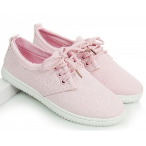 Ružové športové dámske botasky so šnúrkami