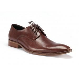 Hnedé pánske spoločenské topánky z pravej kože COMODO E SANO