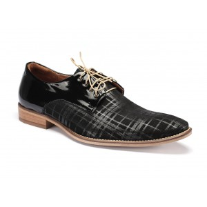 Kožené pánske topánky čiernej farby COMODO E SANO