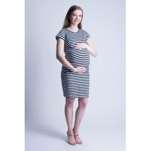 Krátke šaty pre tehotné bielej farby