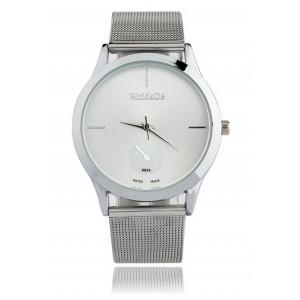 Strieborné dámske hodinky s kovovým remienkom