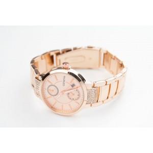 Ružové dámske elegantné hodinky