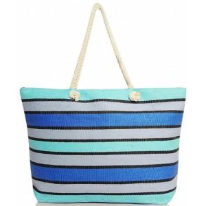 Štýlová dámska taška na pláž modrej farby