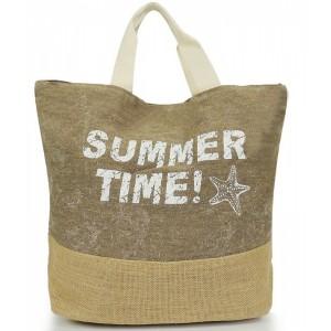 Letné dámske tašky na pláž béžovej farby