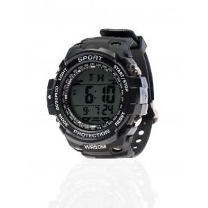 Pánske čierne športové hodinky