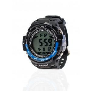 Pánske čierne športové hodinky vodeodolné