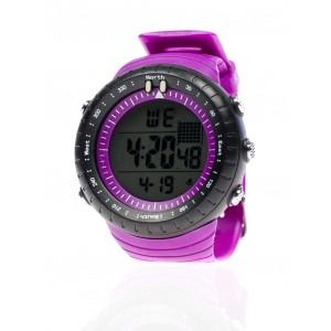 Fialové športové hodinky pre pánov