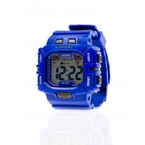 Modré športové hodinky pre pánov