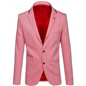 Štýlové pánske sako červenej farby