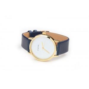 Dámske hodinky s modrým koženým remienkom