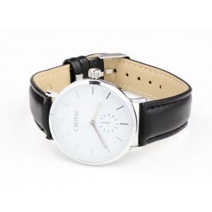 Čierne kožené hodinky dámske
