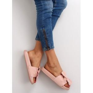 Ružové dámske šľapky s otvorenou špičkou a pätou