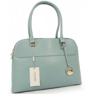 Modrá kabelka do ruky s príveskom