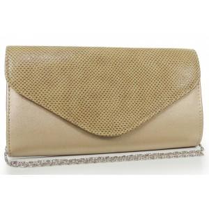 Zlatá listová kabelka s ramienkom