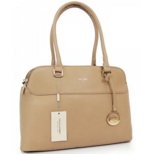 Dámska kabelka do ruky béžovej farby
