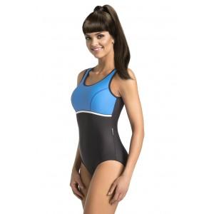 Tmavo modré jednodielne plavky pre dámy